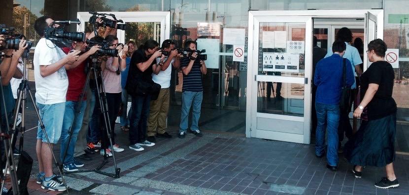 Veliko interesovanje medija ispred Palate pravde