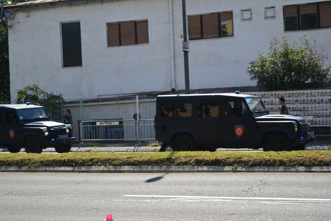 Kolona džipova u kojoj je Milorad Ulemek juče doveden u Specijalni sud, foto: Jana Nikolić