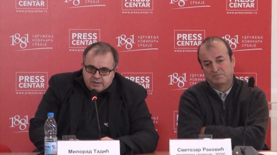 Predsednik ANEM-a Milorad tadić i Generalni sekretar NUNS-a Svetozar Raković