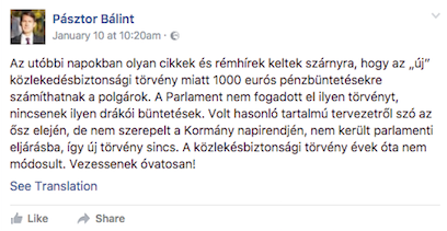 Izvor: Facebook (print screen)