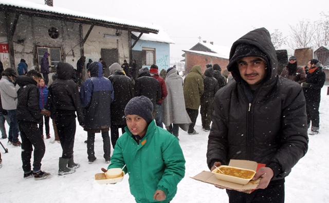 Izbeglice iz Sirije u Beogradu / Foto: FoNet, Nenad Đorđević