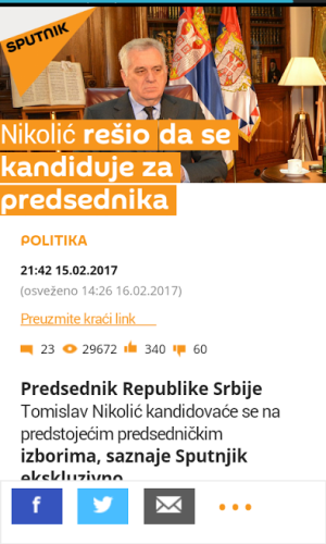 Screenshot: sajt Sputnjik / Preuzeto sa uns.org.rs
