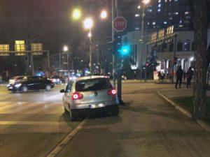 Automobil iz koga je sniman Predrag Blagojević, glavni urednik Južnih vesti