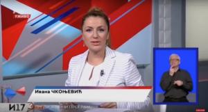 Ivana Čkonjević na predstavljanju predsedničkog kandidata Aleksandra Vučića / Izvor: Youtube kanal Aleksandar Vučić