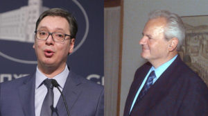 Aleksandar Vučić (Foto: Fonet / Nenad Đorđević) i Slobodan Milošević (Foto: Lance Cheung, USAF [Public domain], via Wikimedia Commons)