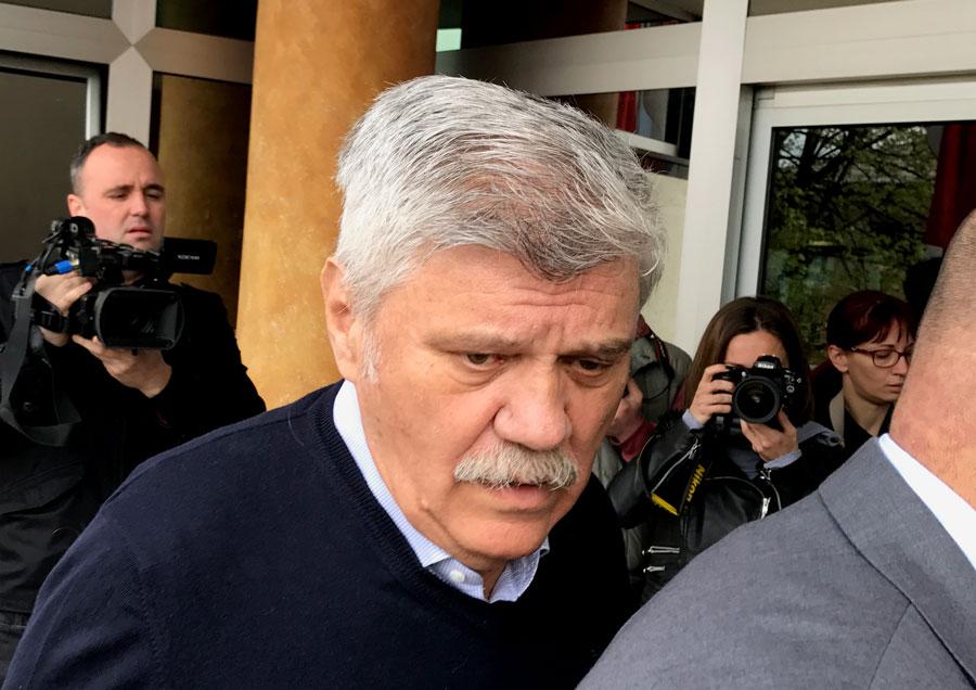 Dušan Mihajlović ulazi u Specijalni sud. Foto: Perica Gunjić / Cenzolovka