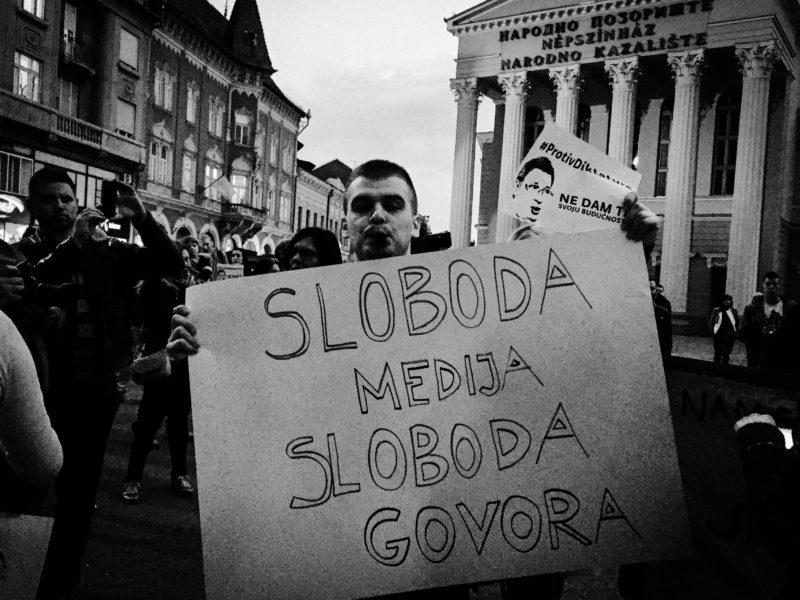 Protest u Subotici (foto: Magločistač)