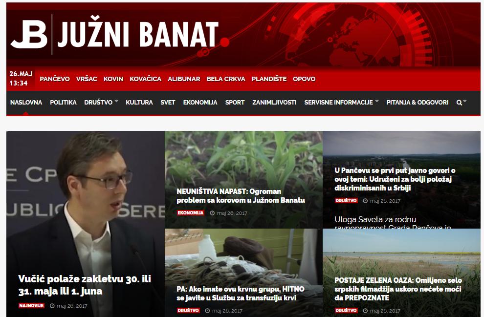 Foto: Screenshot juznibanat.rs