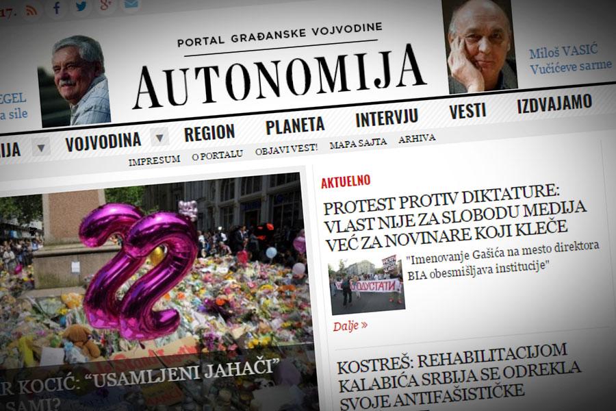 Portal Autonomija blizu potrebnog iznosa; Foto: Autonomija/ Cenzolovka
