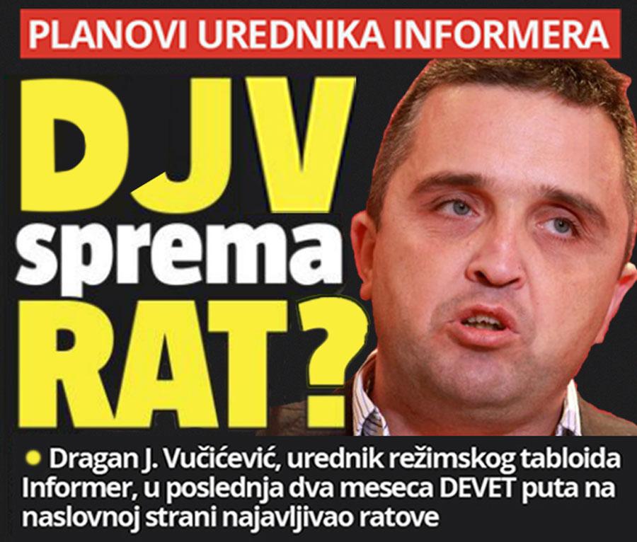 "Parodija na ""ratne"" naslovne strane Informera / Montaža: Cenzolovka"