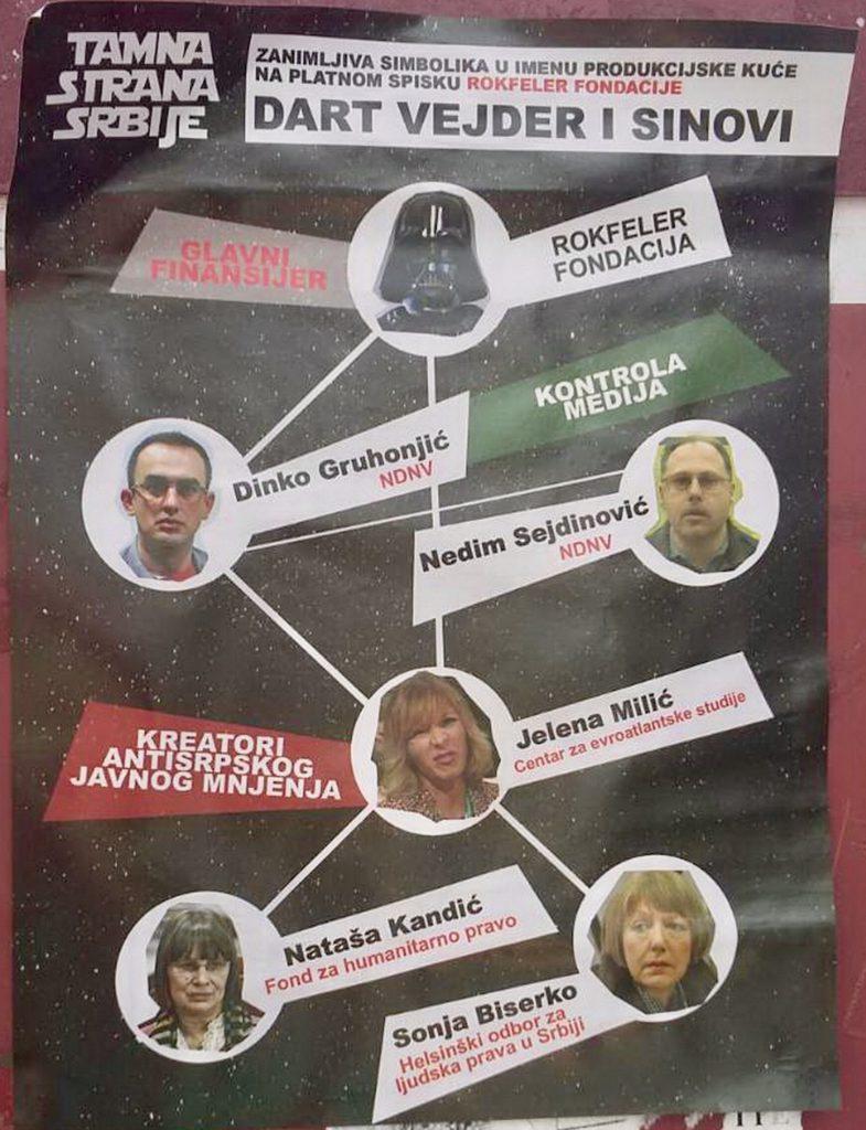 Pretećim posterima oblepljen Novi Sad; Foto: NDNV/ Kristina Molnar
