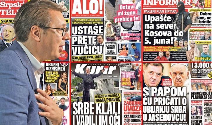 INDUSTRIJA MRŽNJE U SRBIJI Nasumce smo izdvojili sto naslovnica srpskih dnevnih novina i analizirali njihovu novinsku scenu